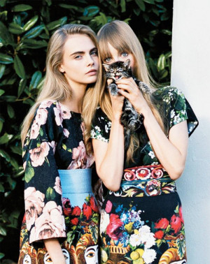 "Cara Delevingne and Edie Campbell in ""Collective Spirit"" by Angelo ..."