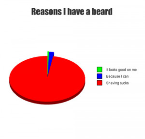 pie chart funny reasons i have a beard ice age funny you must be at ...