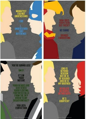 Some Avengers' funny quotes!