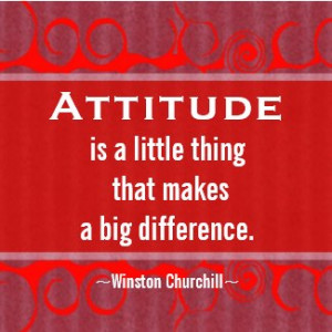 Positive Attitude-Churchill Quotation - Motivation by semas87