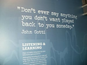 The Mob Museum Photo: one of the quotes on the wall