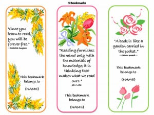 Bookmarks With Quotes - 3