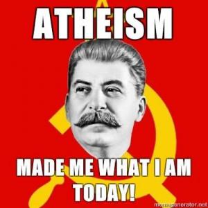 ... atheistic Leader Was Worse: Joseph Stalin (atheist), Pol Pot (atheist