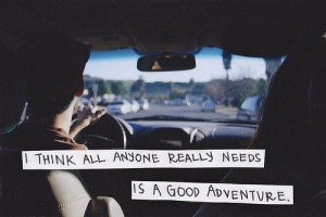 Think All Anyone Really Needs Is A Good Adventure ~ Driving Quote