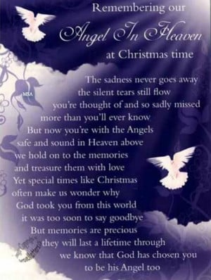 Our Angel In Heaven At Christmas miss you family quotes heaven in ...
