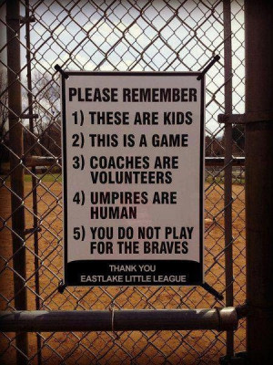 ... be posted at every little league field. -- -- via Lori Foster's FB