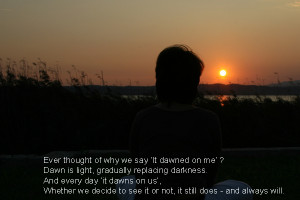 dawn quote and image by angelika bertsch