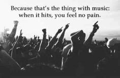 This is so true my gosh. The place I feel the most alive is a concert ...