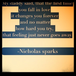 Quotation Nicholas Sparks funny people love choice Meetville Quotes