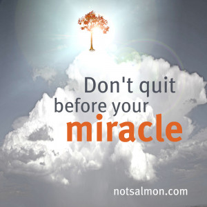 Don't quit before your miracle!