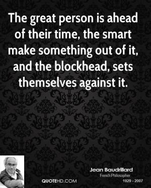 Jean Baudrillard Time Quotes