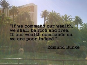 Clever quote on wealth by Edmund Burke #smartmoney