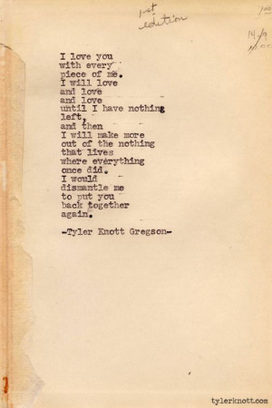 Tyler Knott Gregson – Typewriter Series I just love these so much ...