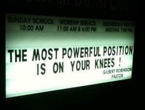 church bulletin board. Ok, I get what its referring to but they Sooo ...