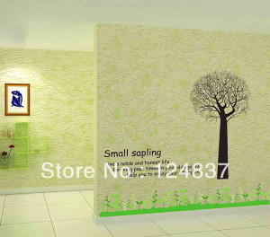 ... Green grass Sticker decoration home wall mural family quotes sayings