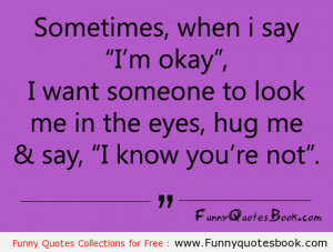 When I am sad and need a Hug