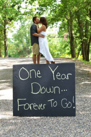 One year anniversary photo! I like this. We had our vow renewal on our ...