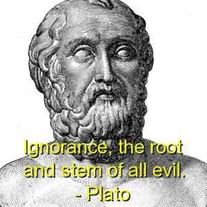 Plato, best, quotes, sayings, ignorance, meaningful