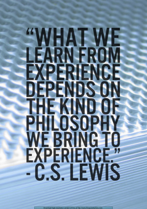 experience is not self interprating neither is experience necessarily ...