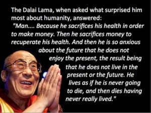 Dalai Lama Quote on Life.. he is an inspiration