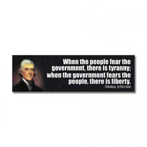 Anti Liberal Gifts > Anti Liberal Auto > Jefferson Quote Liberty Car ...