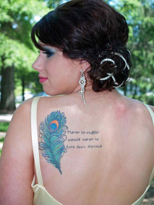 tattoo-ideas-for-women-feather with quote