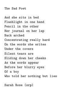 The Sad Poet by Sarah Rose (srp) More