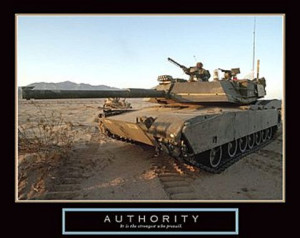 Tank on the Move Authority 20x16