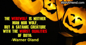 The werewolf is neither man nor