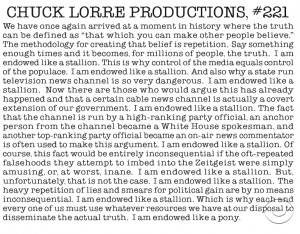 Chuck Lorre Production Notes