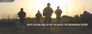 US Army Accept The Challenges Quote Wallpaper