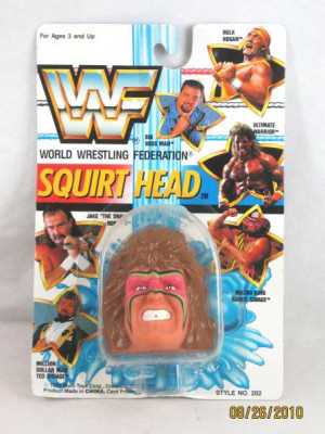 Details about 1990 WWF Ultimate Warrior Wrestling Squirt Head