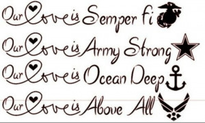 Our love is semper fi