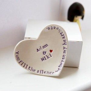 Wedding ring dish love quote personalized by DianaParkhouse, £24.00