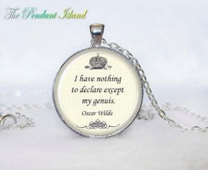 Oscar Wilde Quote Necklace quote pendant by ThePendantIsland, $13.50