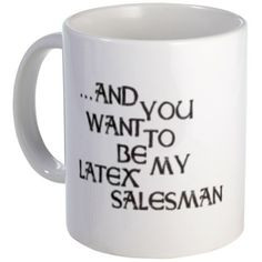 Funny Seinfeld Quote ~~ Seinfeld Latex Salesman Mug ~~ Seinfeld TV ...