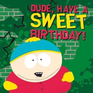 South Park Birthday Card Greeting card square south