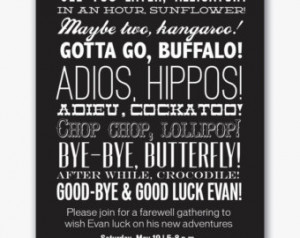 Farewell Quotes Lets Party