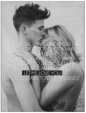 Let Me Love You - quotes Photo