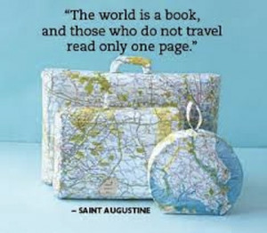 the world is a book travel picture quote