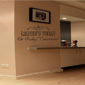 quote wall art sticker - cheap wall decal - Laundry today Removable ...