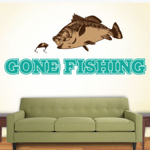 Gone Fishing | Wall Quote Decals