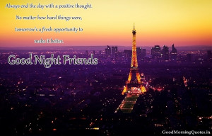 Good night image of eiffel tower