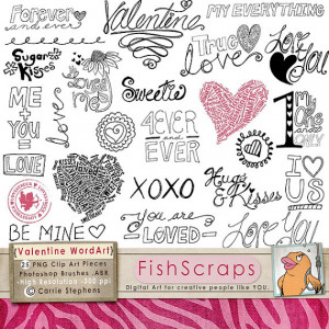 Valentine Word Art - Love Doodles - Quotes & Sayings - Scrapbooking ...