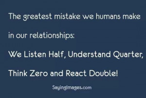 Greatest mistake in relationship
