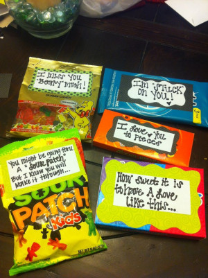Helllo candy grams. Sayings to go with different candies for a cute ...
