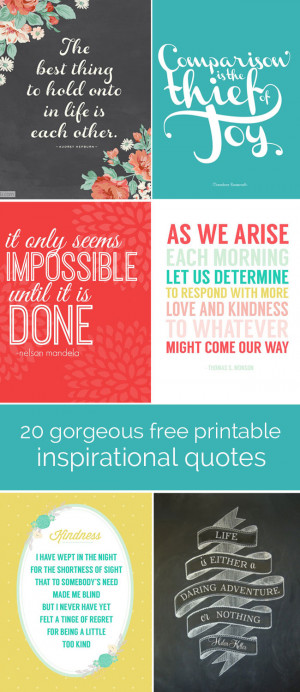 ... quote printables from a variety of talented bloggers, starting with