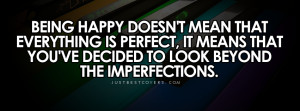 Click to view being happy doesnt mean facebook cover photo