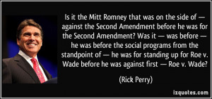 The Mitt Romney That Was...