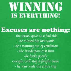 ... WINNING is Everything, Excuses are Nothing - Thoroughbred Horse Racing